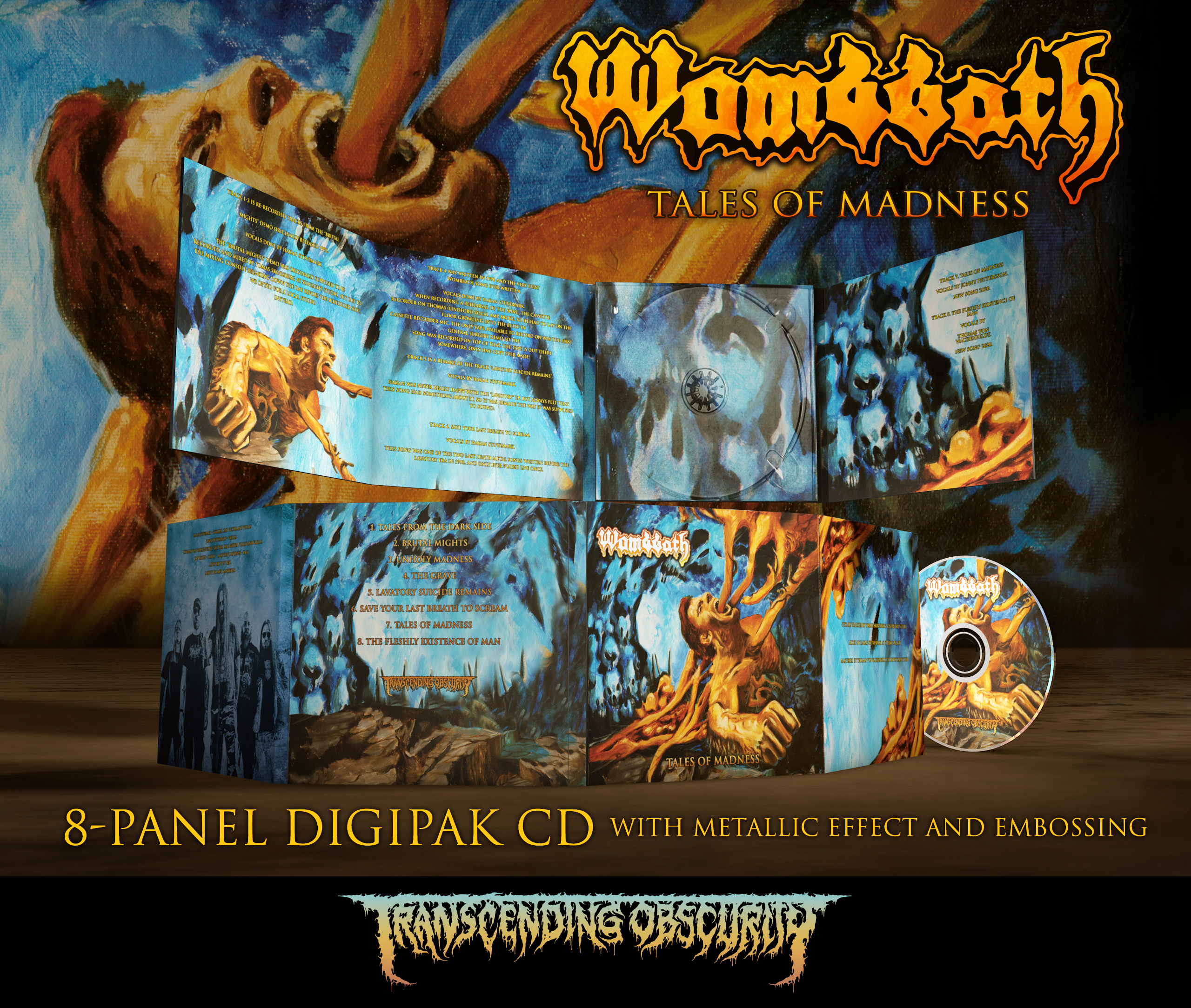 Wombbath - Tales Of Madness 8-Panel Digipak CD