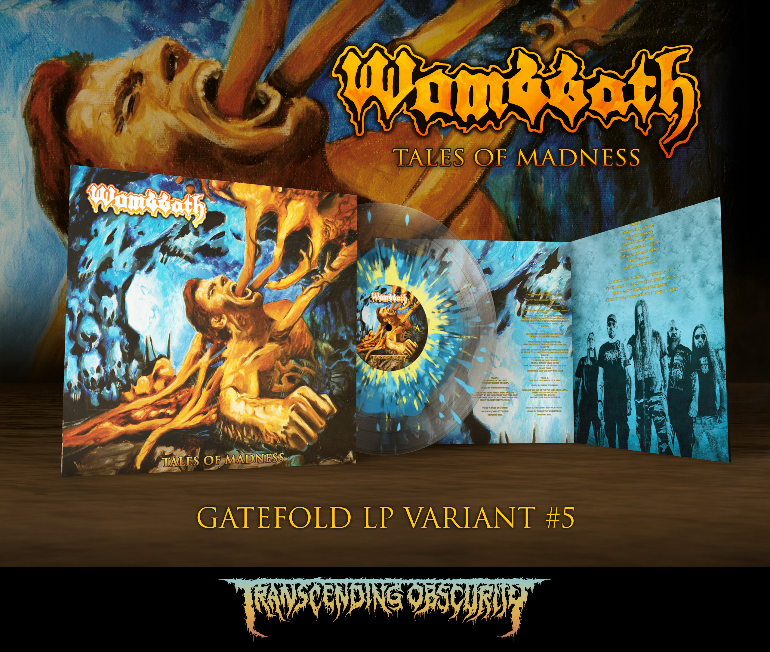 WOMBBATH - Tales of Madness Gatefold LP with Metallic Effect and UV Embossing (Limited to 80 nos. per variant)
