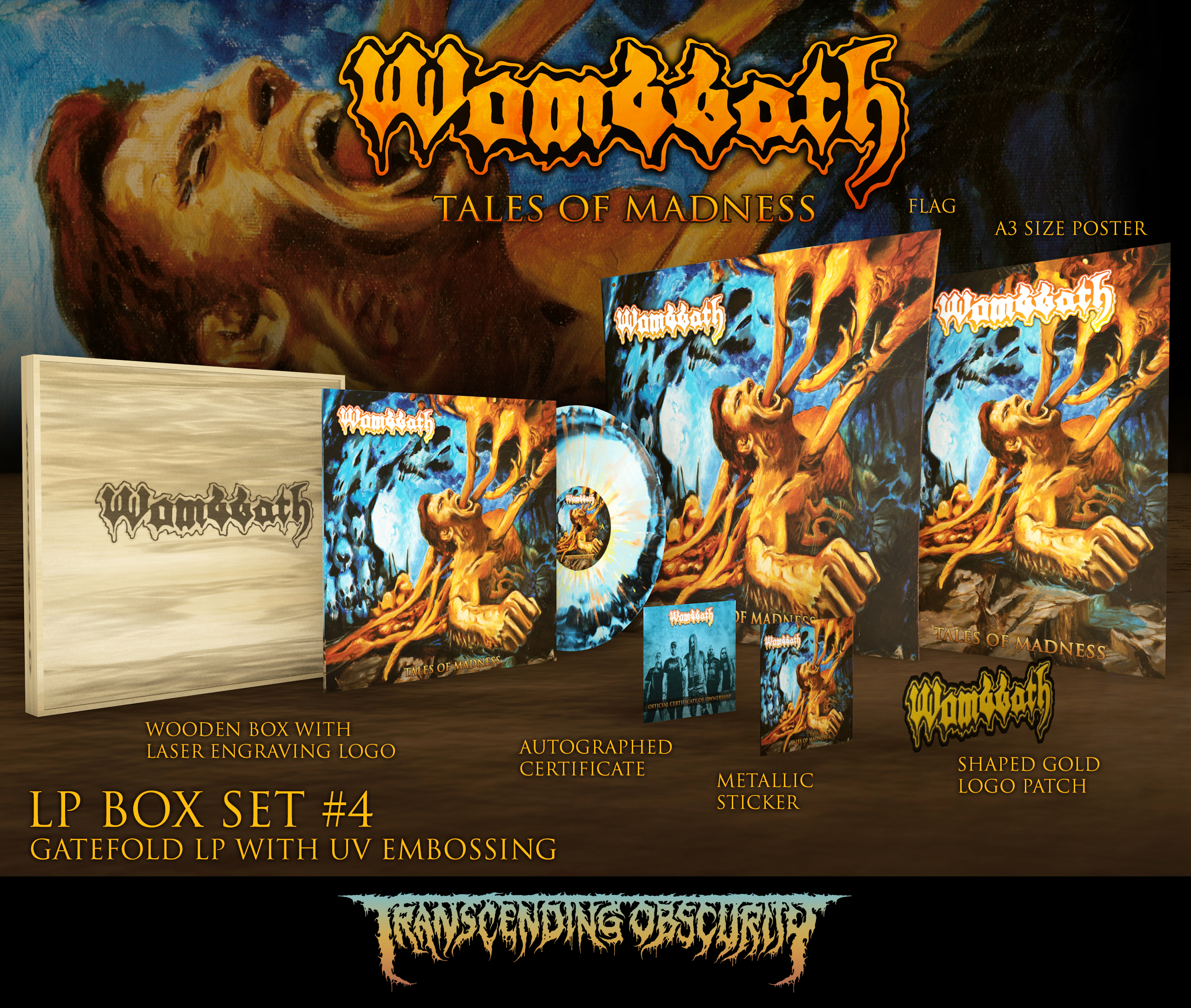 Wombbath - Tales Of Madness Wooden LP Box Set With Laser Engraving (Limited to 20 nos. per variant)