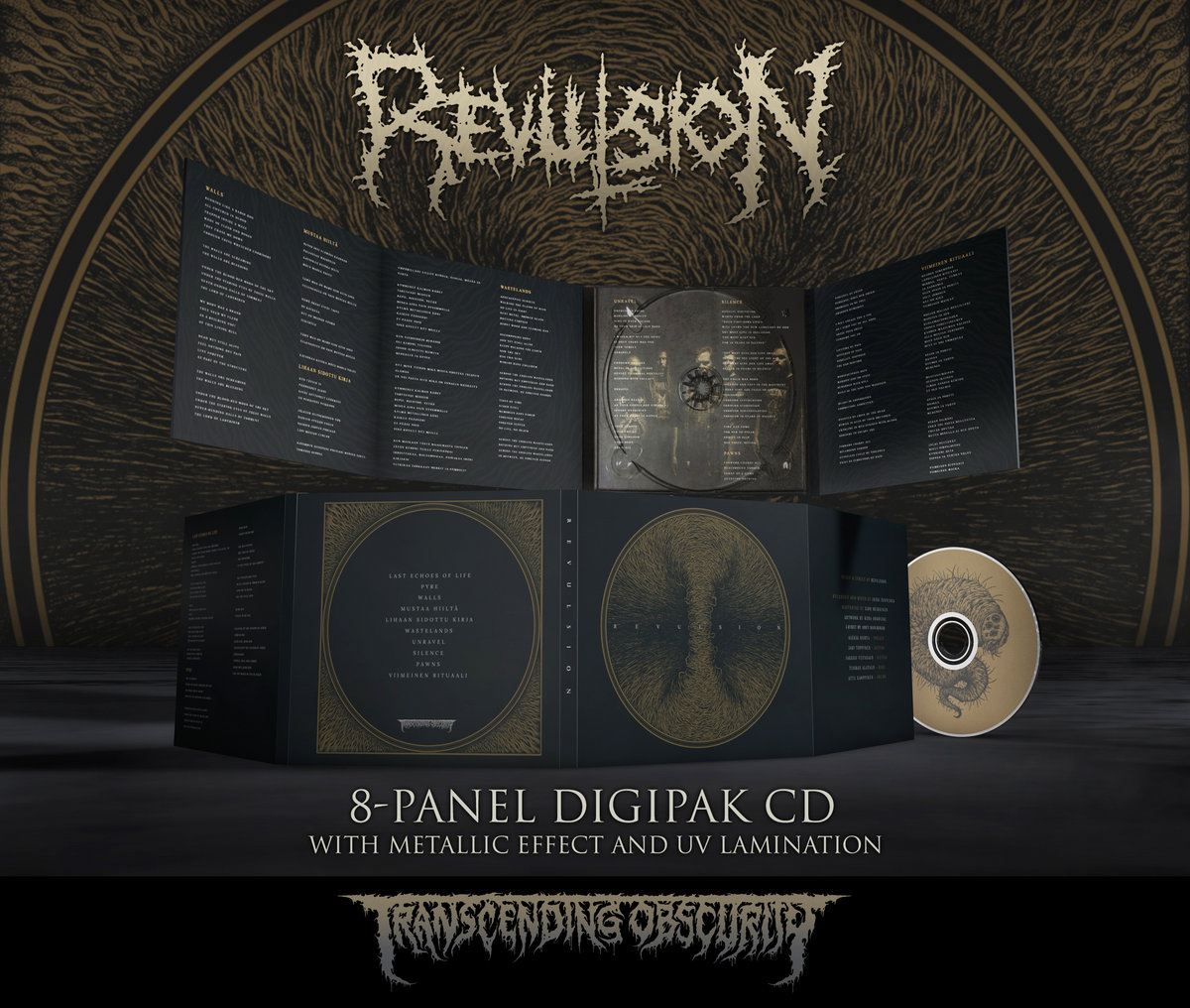 REVULSION 8-Panel Digipak CD with Metallic Effect and UV Lamination