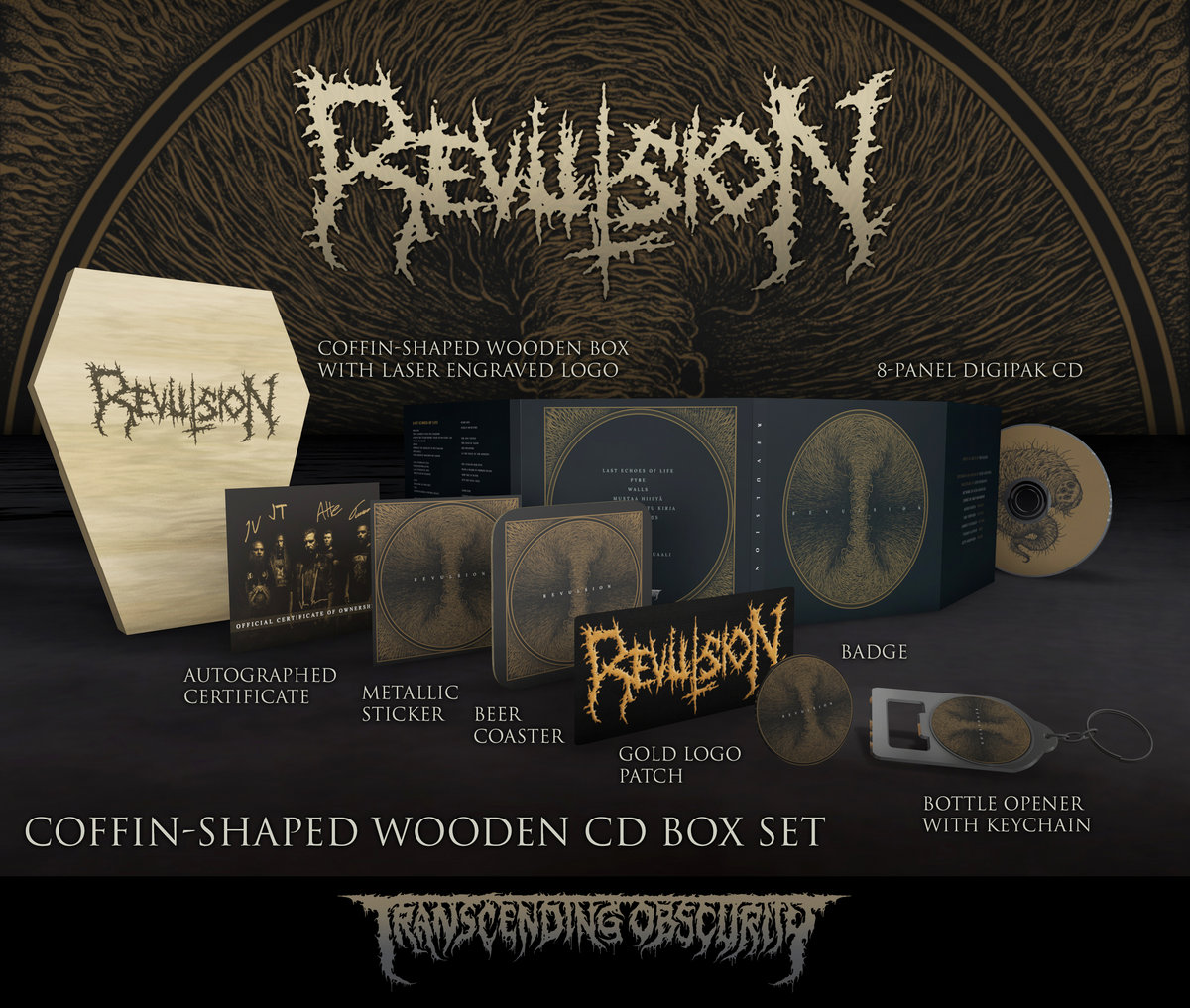 REVULSION Coffin-shaped Wooden CD Box Set (Limited to 60)