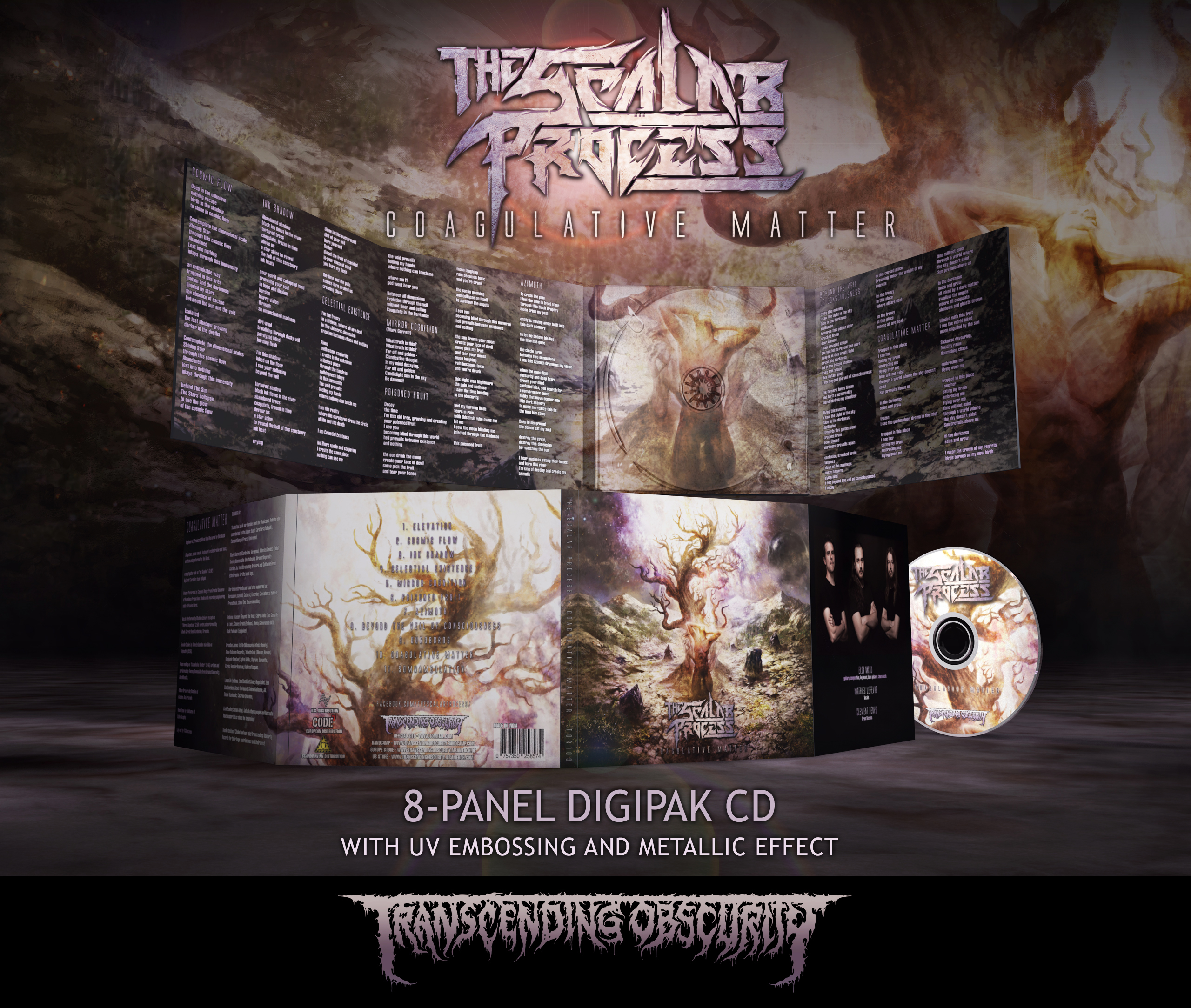 The Scalar Process - Coagulative Matter 8-Panel Digipak CD