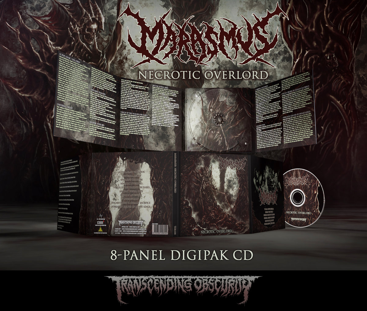 MARASMUS - Necrotic Overlord 8-Panel Digipak CD with Metallic Effect and UV Embossing