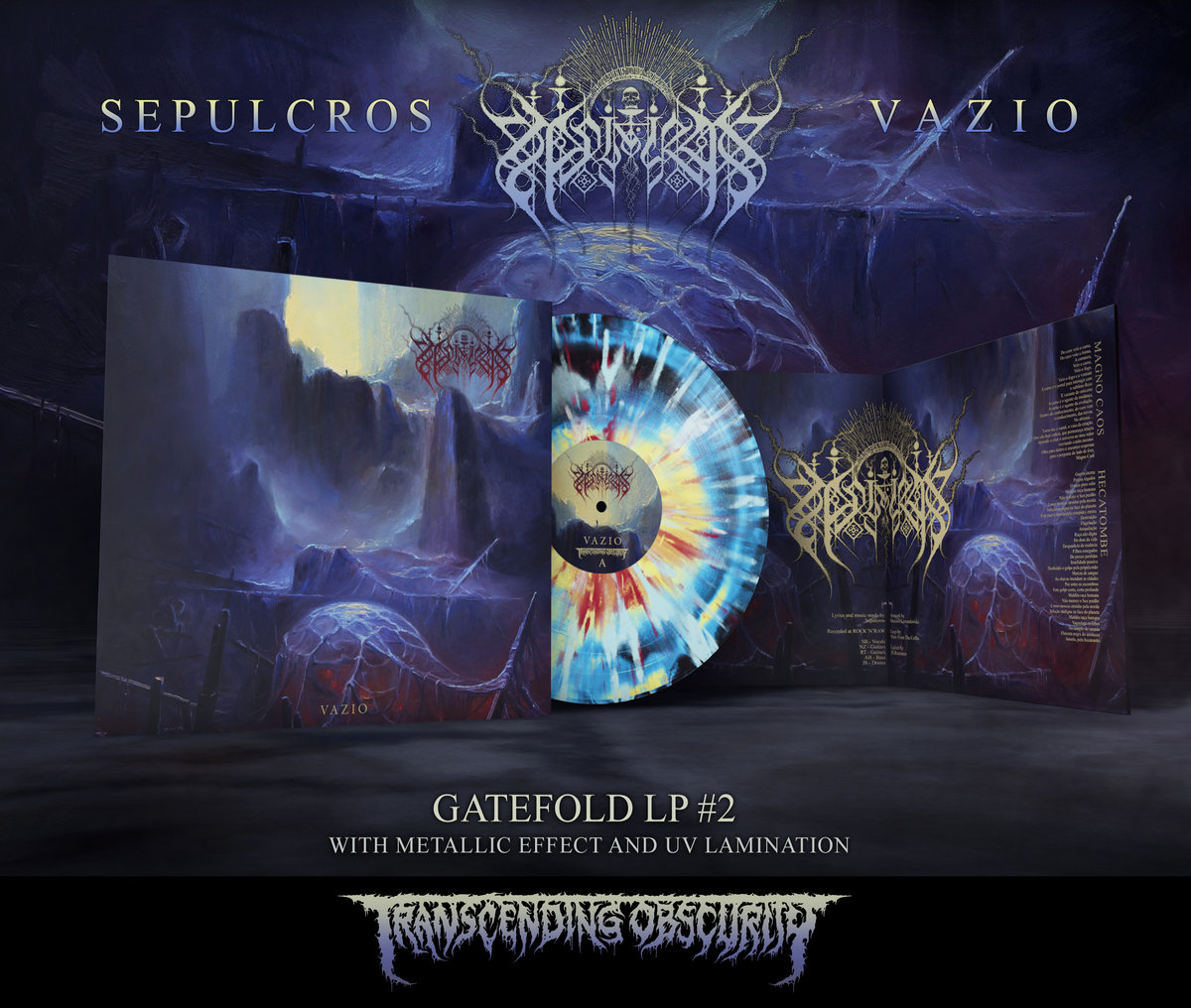 SEPULCROS Gatefold LP with Metallic Effect and UV Embossing (Limited to 85 per variant)
