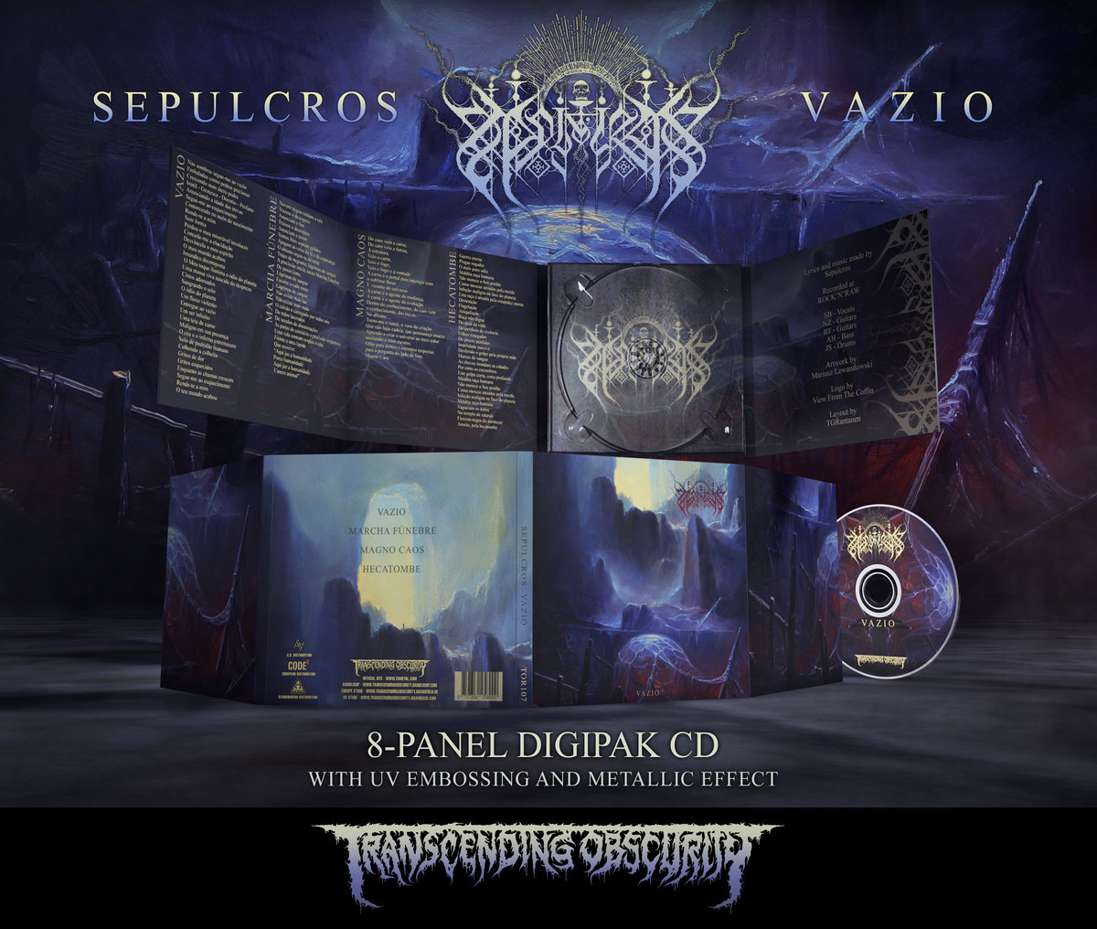 SEPULCROS 8-Panel Digipak CD with Metallic Effect and UV Lamination