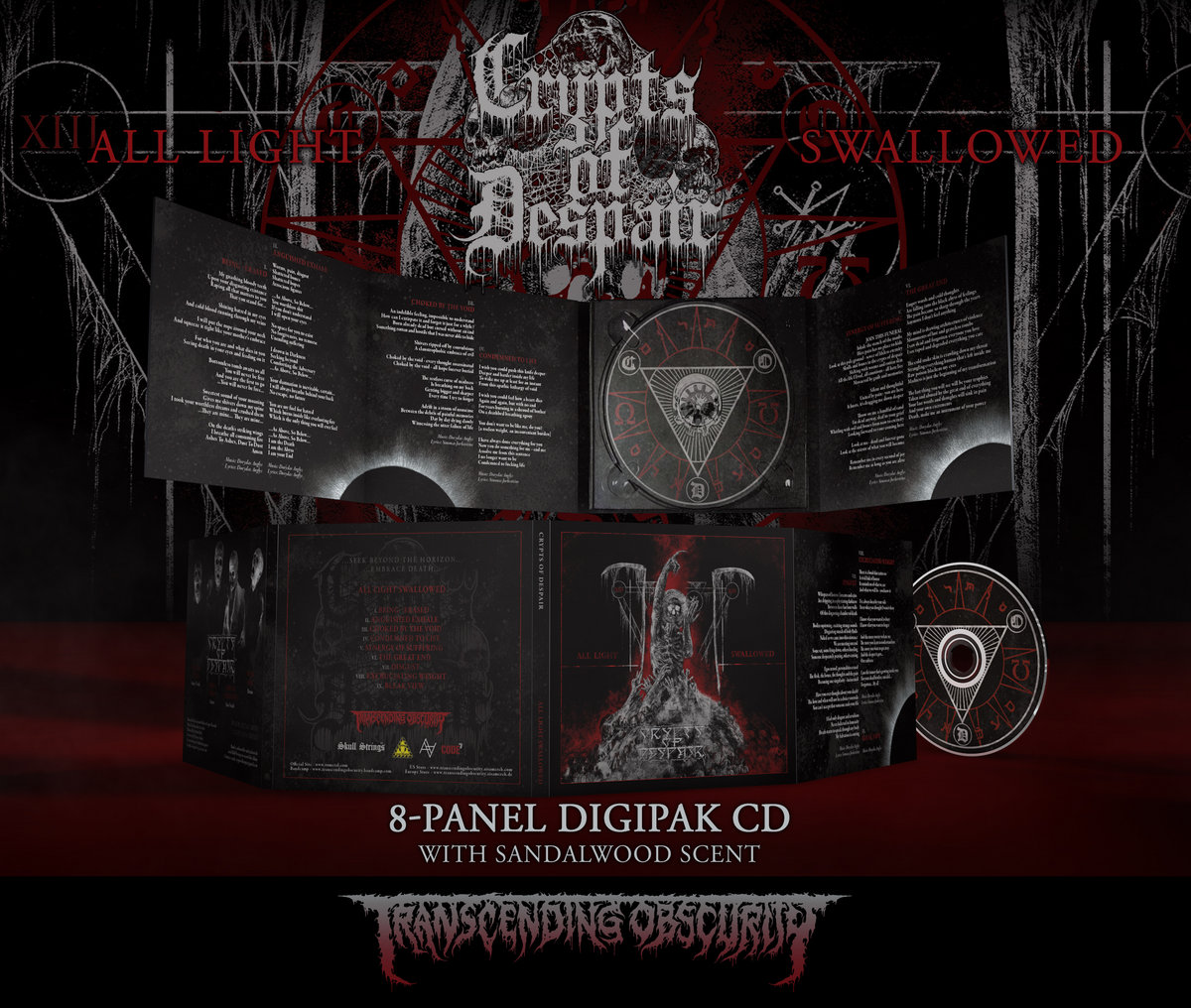 CRYPTS OF DESPAIR - All Light Swallowed 8-Panel Digipak CD with Sandalwood Scent