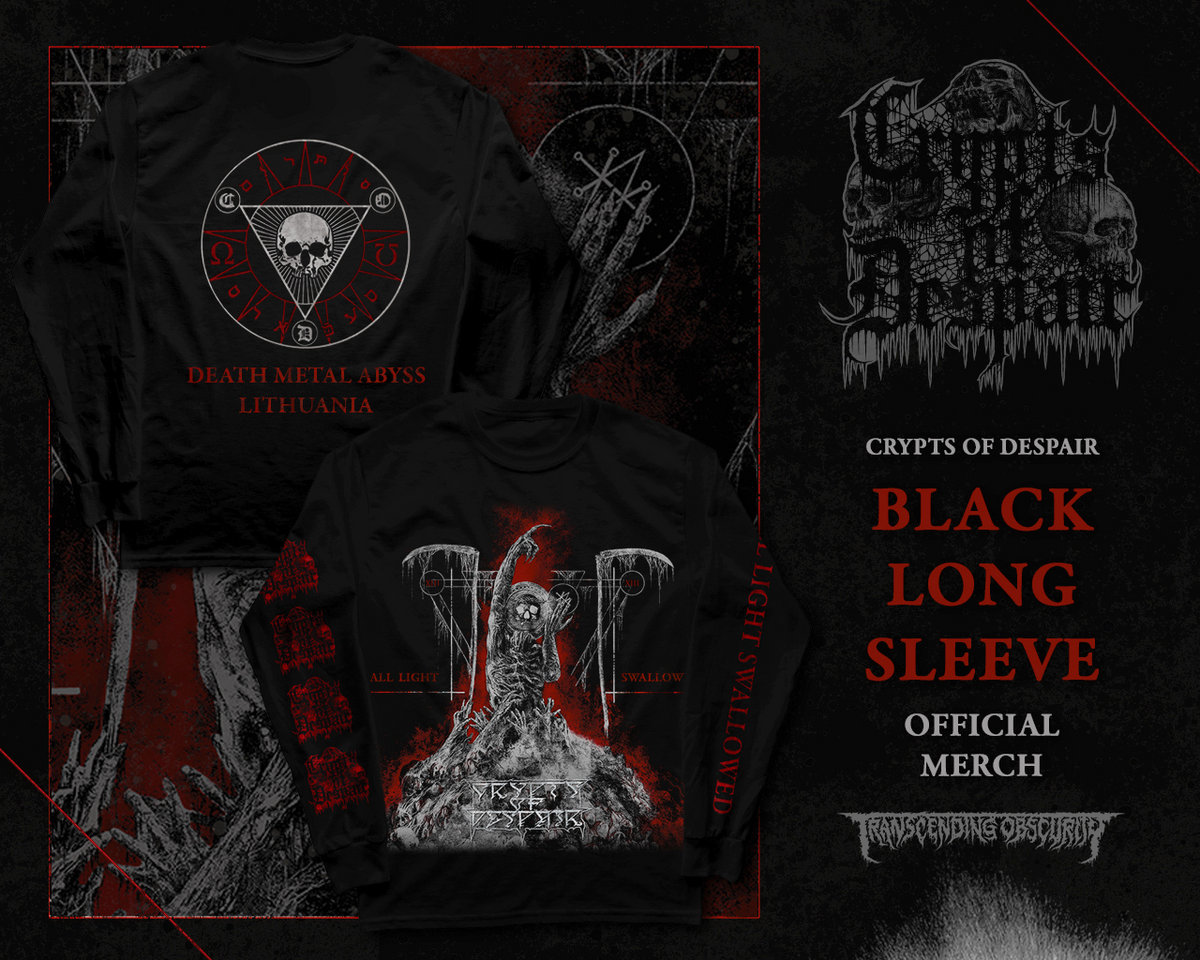 CRYPTS OF DESPAIR - All Light Swallowed Long Sleeve T-shirt
