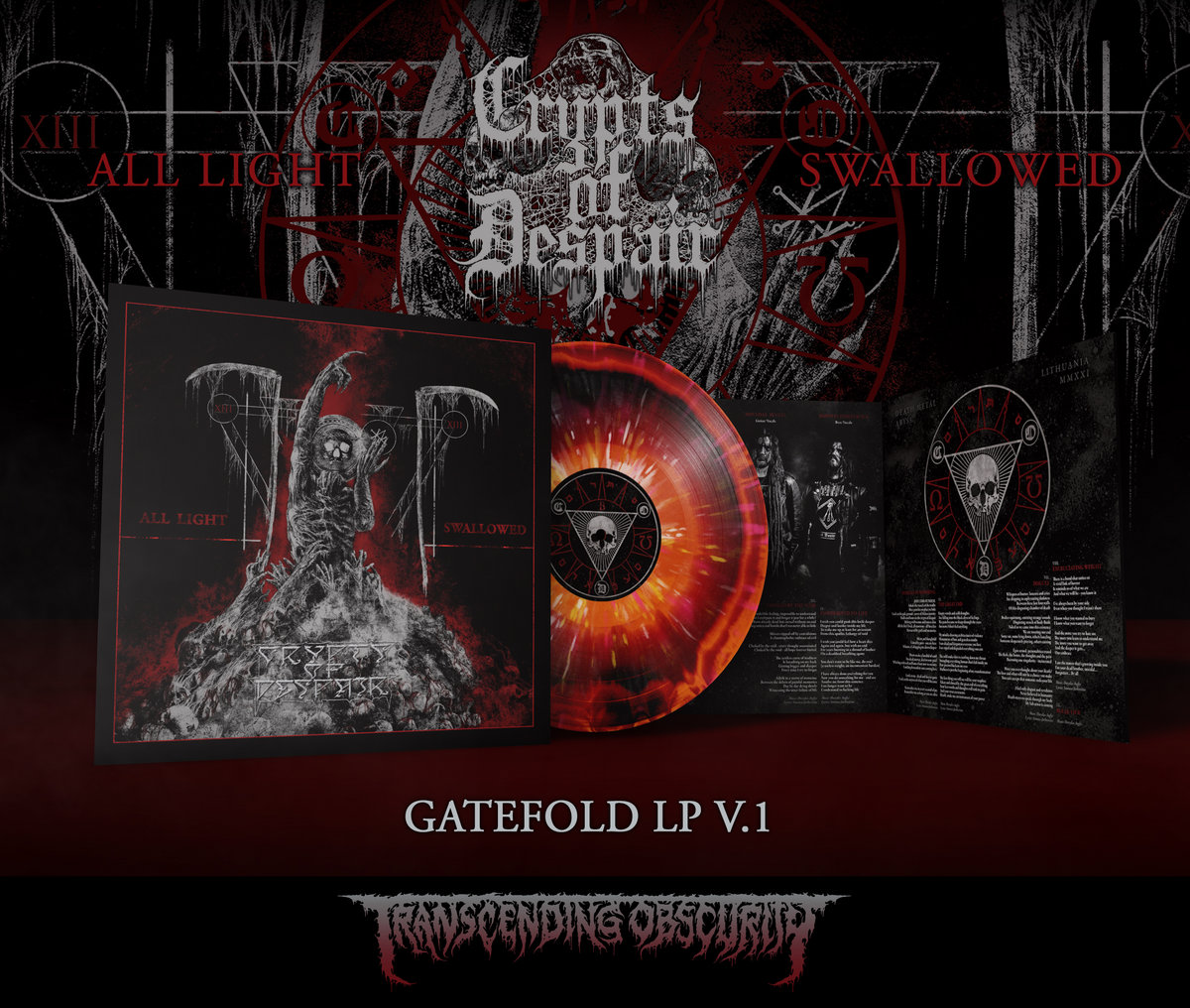 CRYPTS OF DESPAIR - All Light Swallowed Gatefold LP with Sandalwood Scent (Limited to 100 per variant)