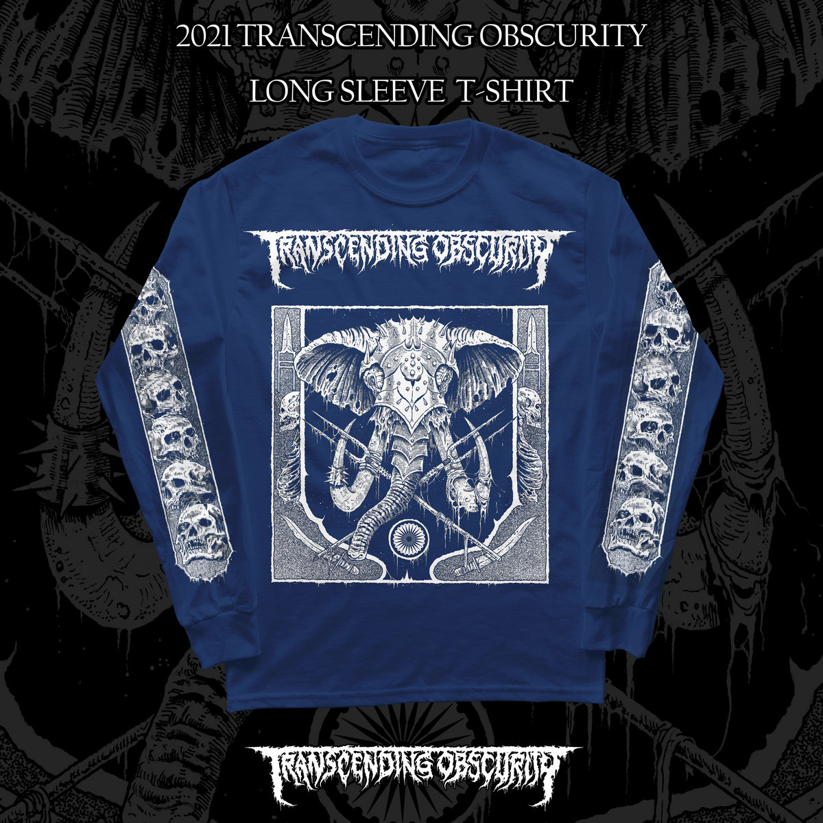 2021 Label Sampler Blue Long Sleeve T-shirt Variant #1 (War Elephant)