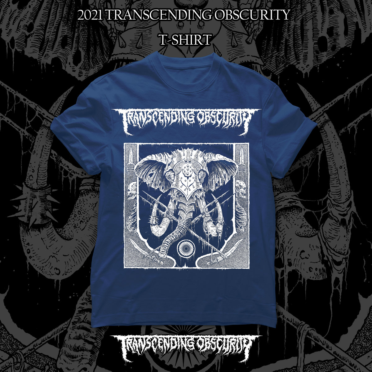 2021 Label Sampler Blue T-shirt Variant #1 (War Elephant)