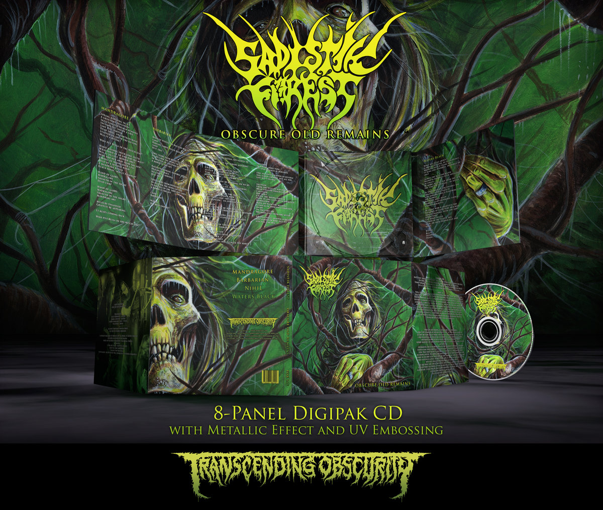 SADISTIK FOREST - Obscure Old Remains 8-Panel Digipak CD with Metallic Effect and UV Embossing