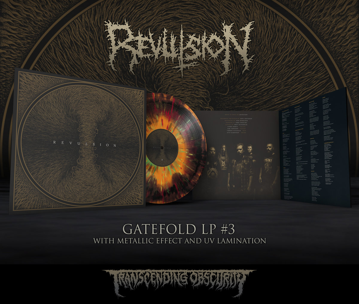 REVULSION - Self-titled Gatefold LP with Metallic Effect Sleeve and UV Lamination (Limited to 100 nos. per variant)