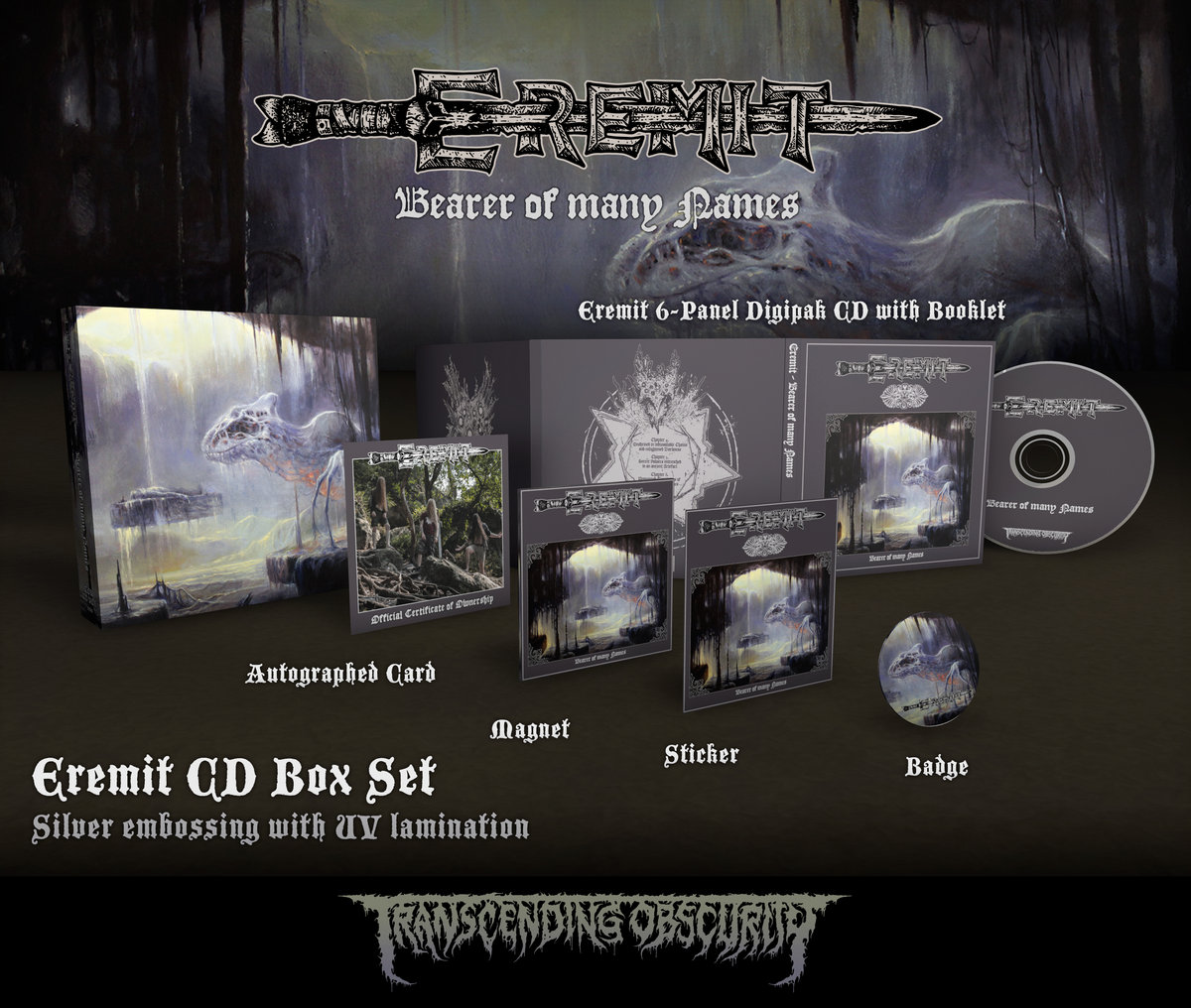 EREMIT - Bearer of Many Names CD Box Set with Metallic Effect (Limited to 100)