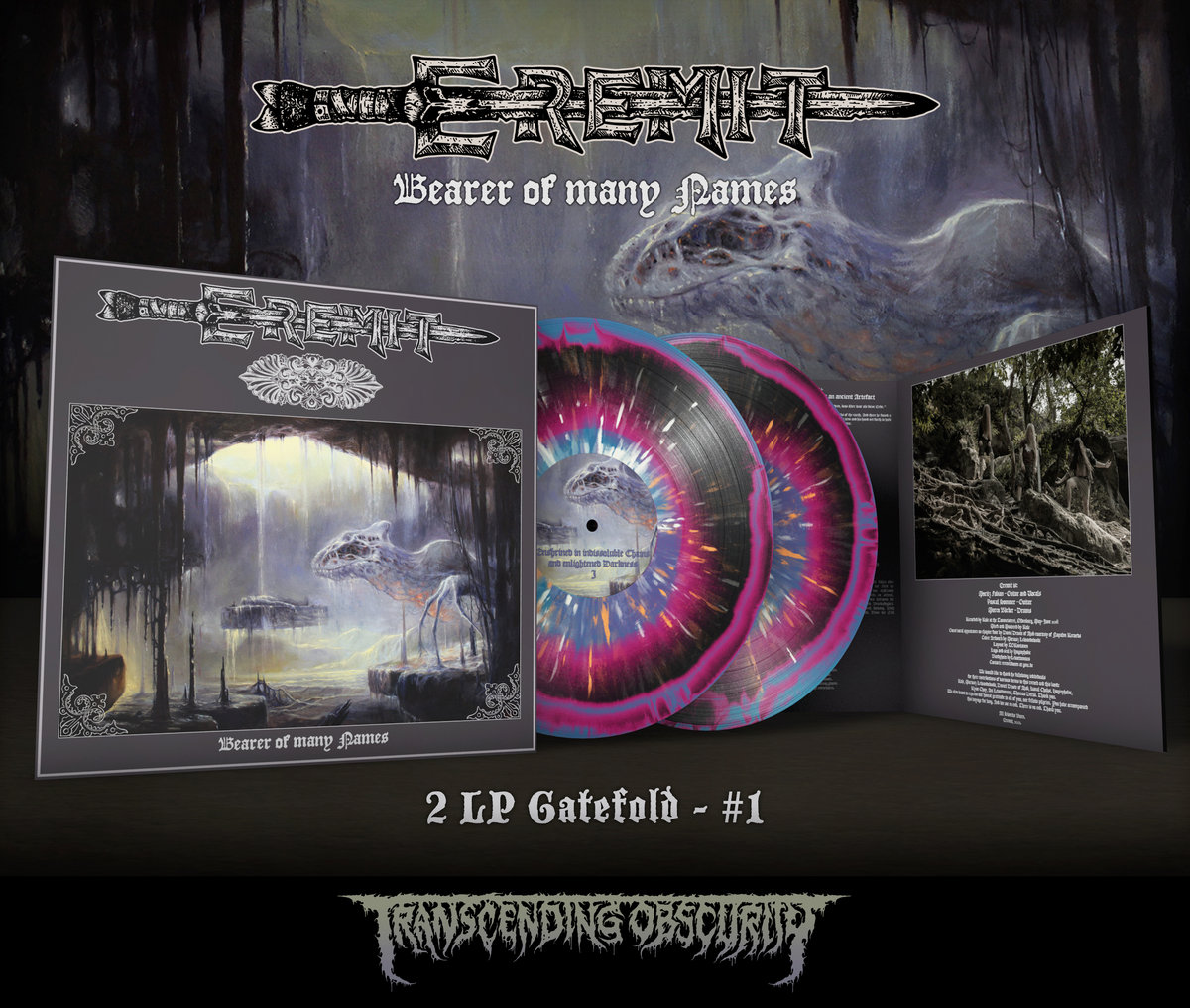 EREMIT - Bearer of Many Names Gatefold Double LP with Metallic Effect Sleeves and UV Embossing