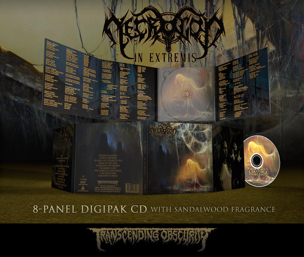 NECROGOD - In Extremis 8-Panel Digipak CD with Sandalwood Fragrance