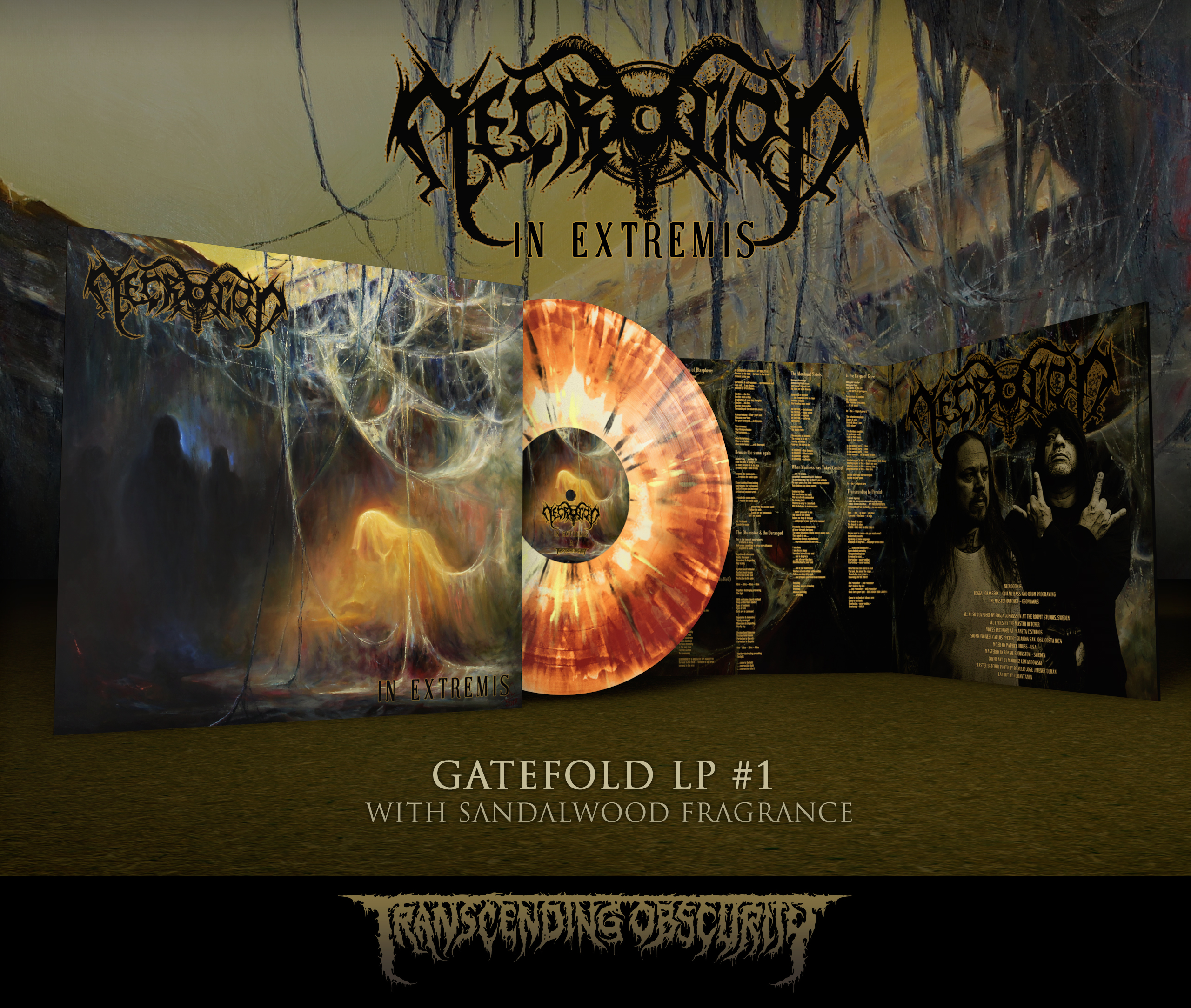 NECROGOD - In Extremis Gatefold LP with Sandalwood Fragrance (Limited to 85 per variant)