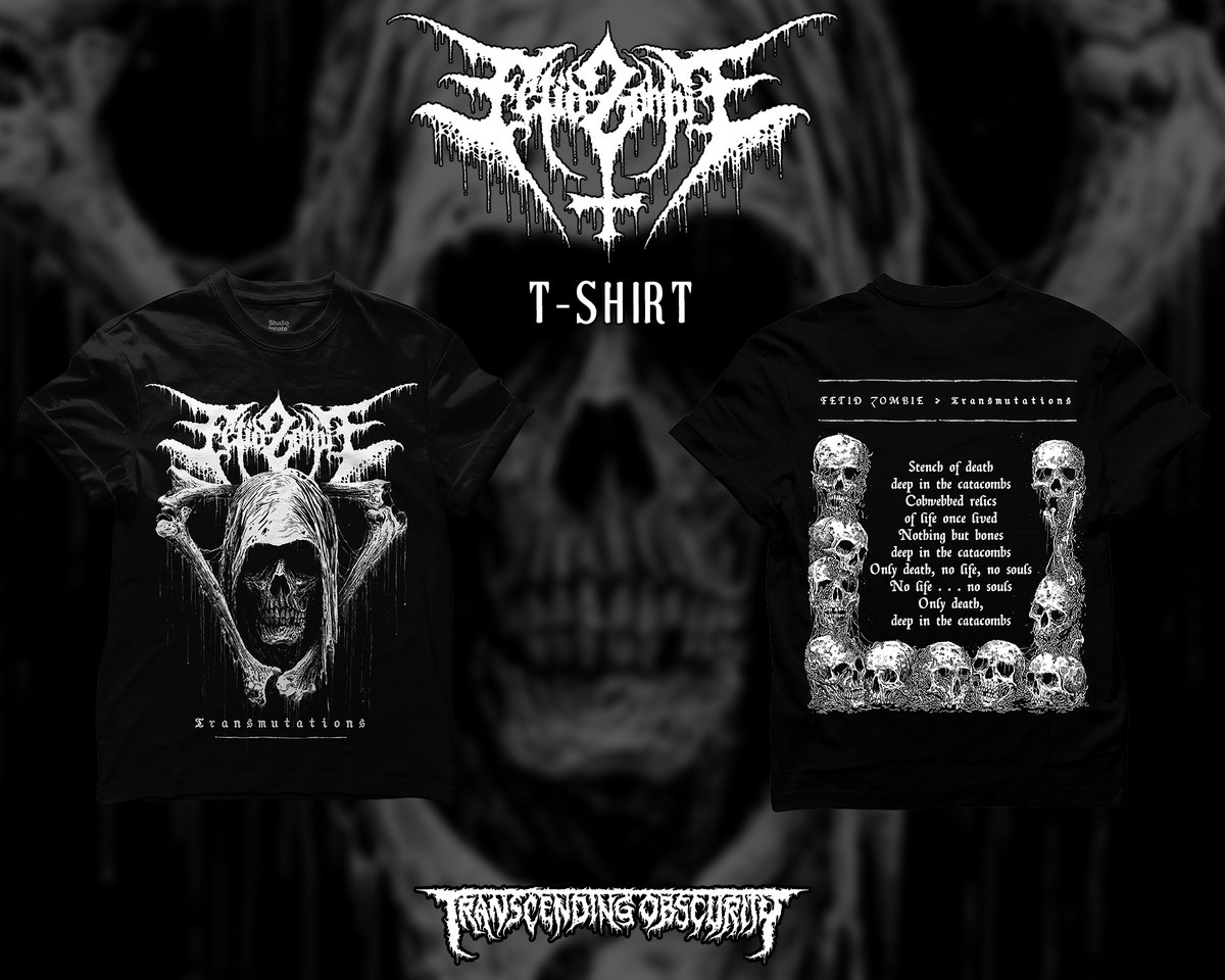 FETID ZOMBIE - Transmutations Album Artwork T-shirt