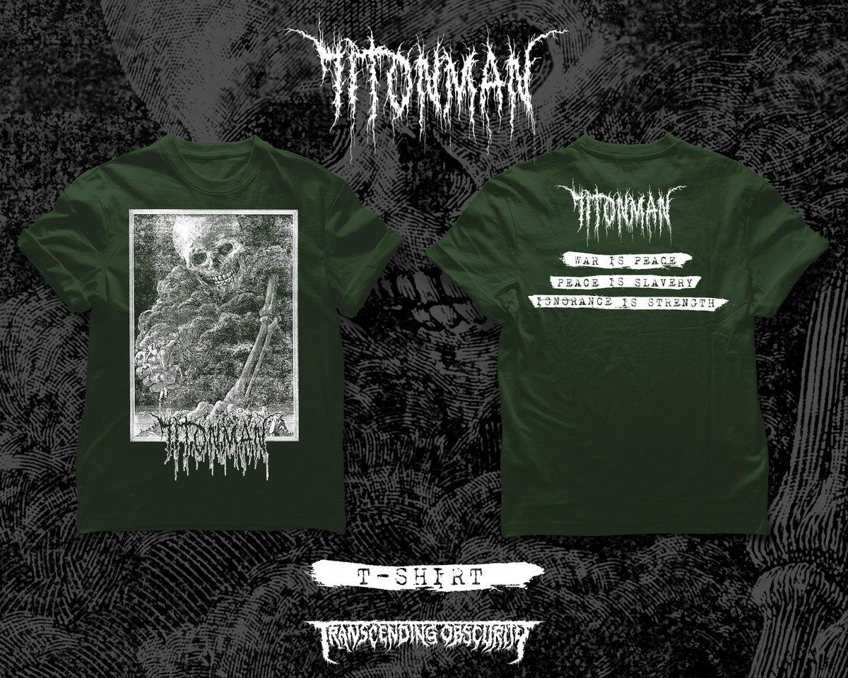 71TONMAN - War Is Peace // Peace Is Slavery Green T-shirt