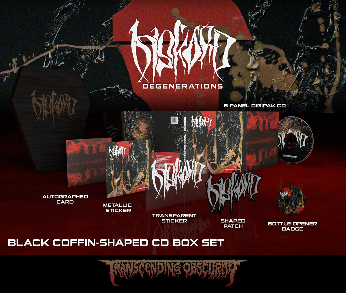 DISKORD - Degenerations Black Coffin-Shaped CD Box Set (Limited and numbered to 100)