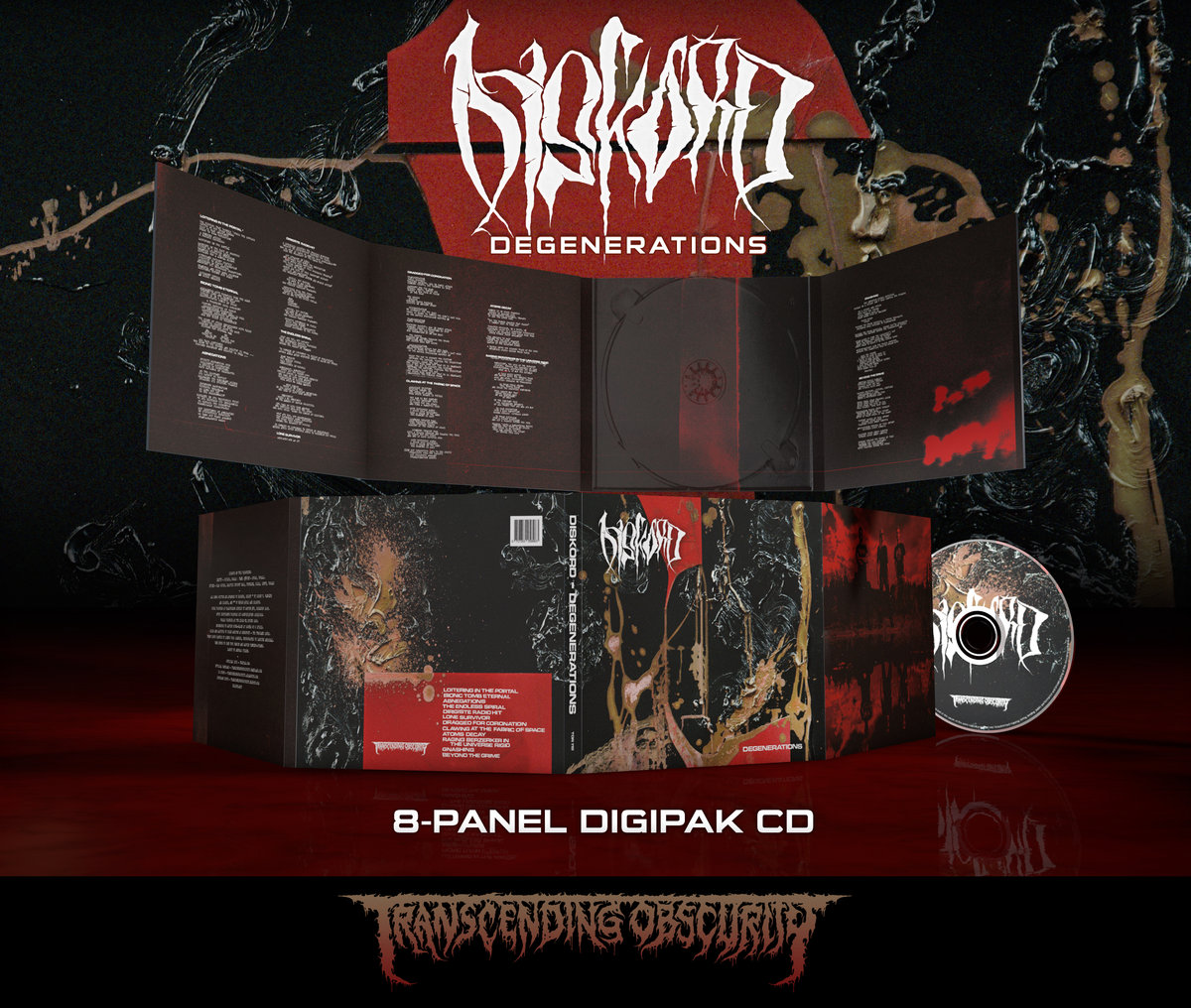 DISKORD - Degenerations 8-Panel Digipak CD