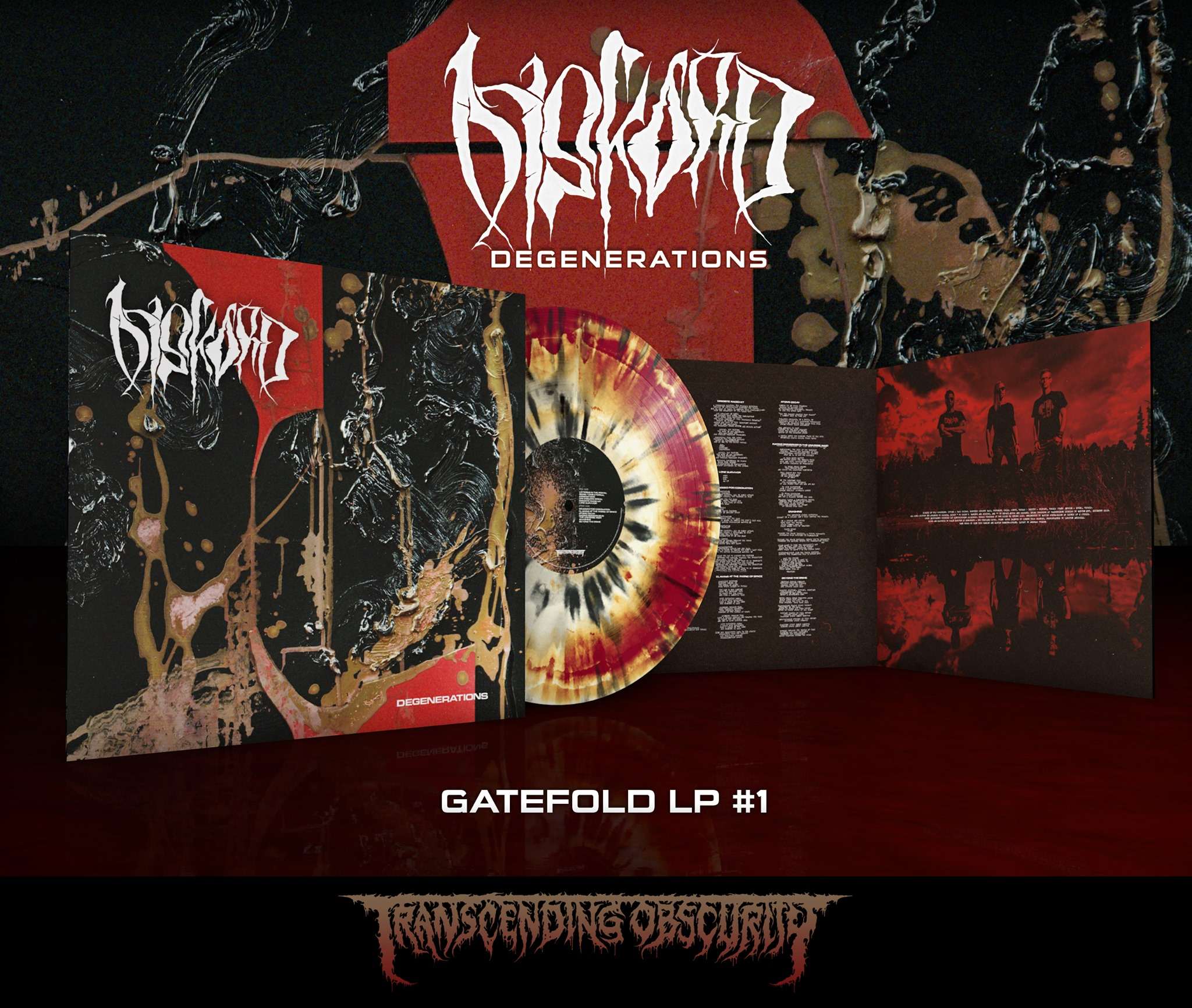 DISKORD - Degenerations Gatefold LP with Metallic Effect and Embossing (Limited to 75 per variant)
