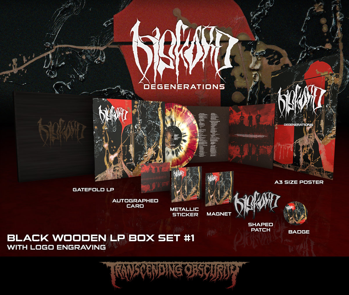 DISKORD - Degenerations Black Wooden LP Box Set (Limited to 25 per variant)