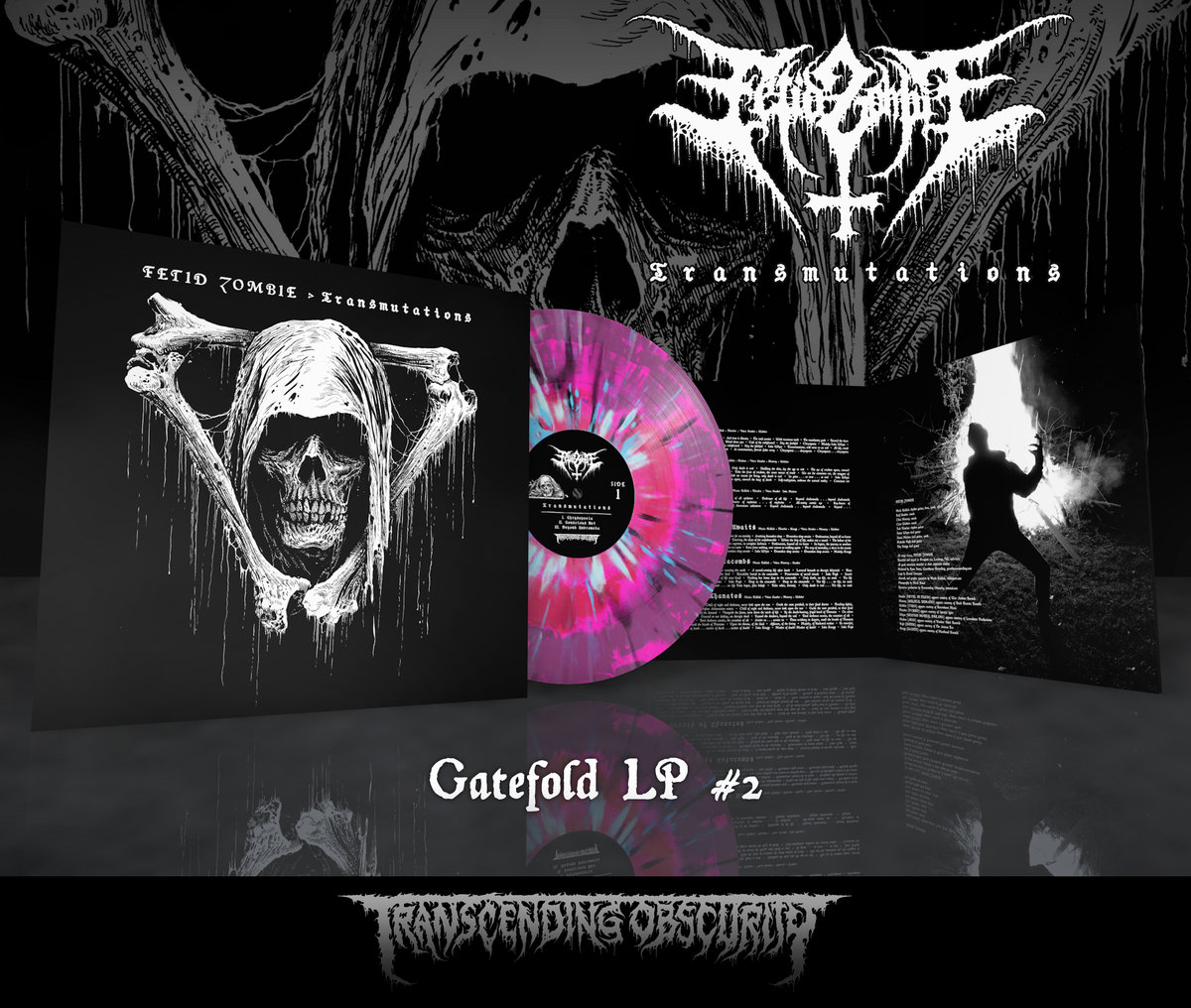 FETID ZOMBIE - Transmutations Gatefold LP with Metallic Effect and Embossing (Limited to 75 per variant)