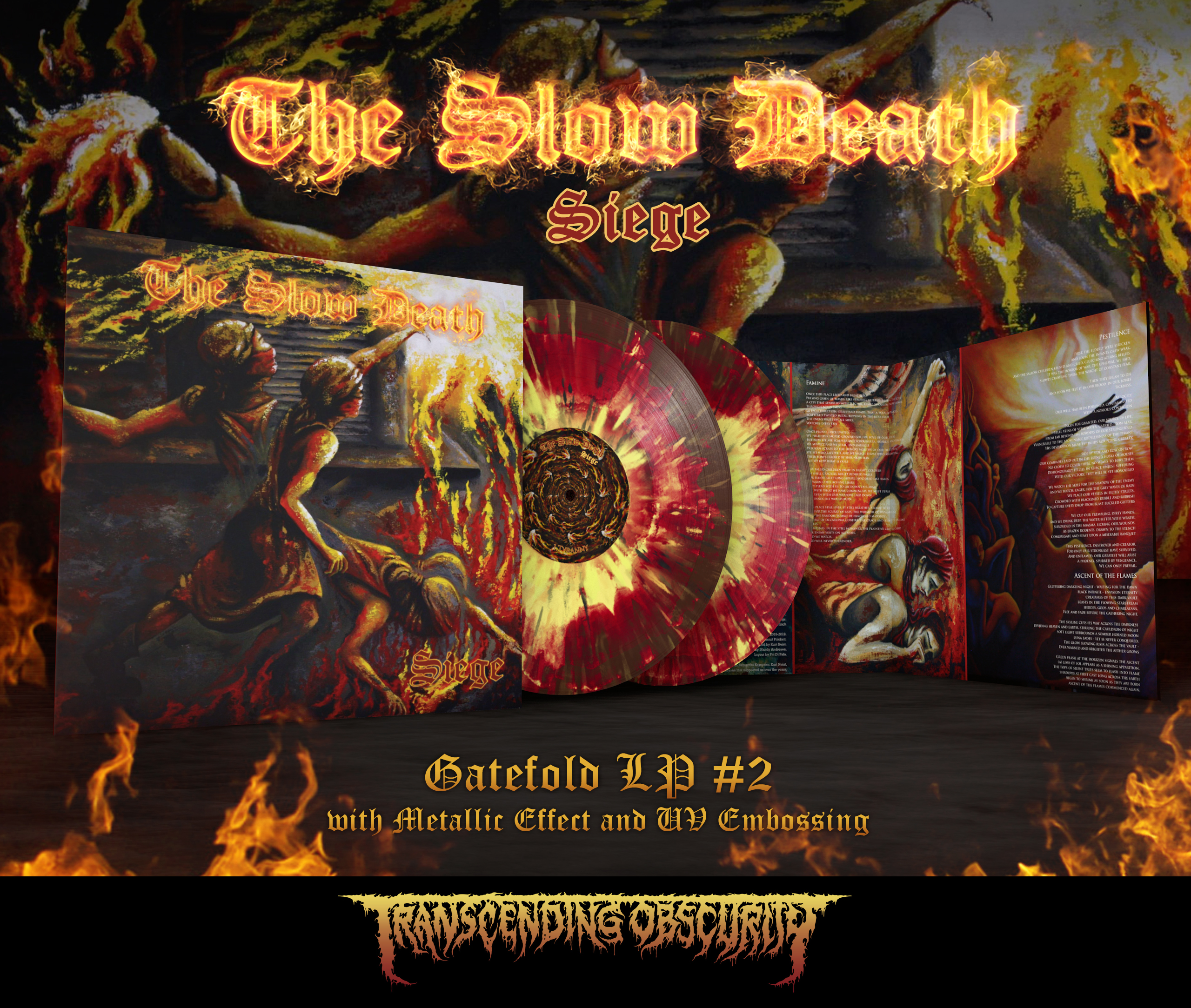 THE SLOW DEATH - Siege Gatefold Double LP with Metallic Effect and Embossing (Limited to 75 per variant)