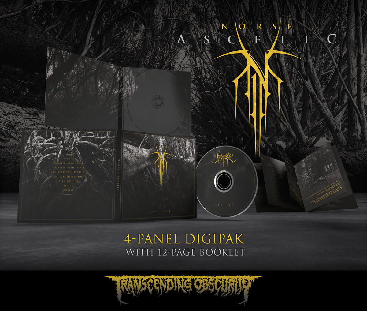 NORSE - Ascetic 4-Panel Digipak CD with 12-Page Booklet