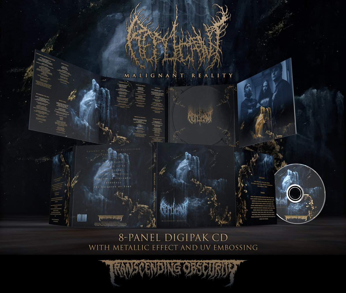 REPLICANT - Malignant Reality 8-Panel Digipak CD with Metallic Effect and UV Embossing