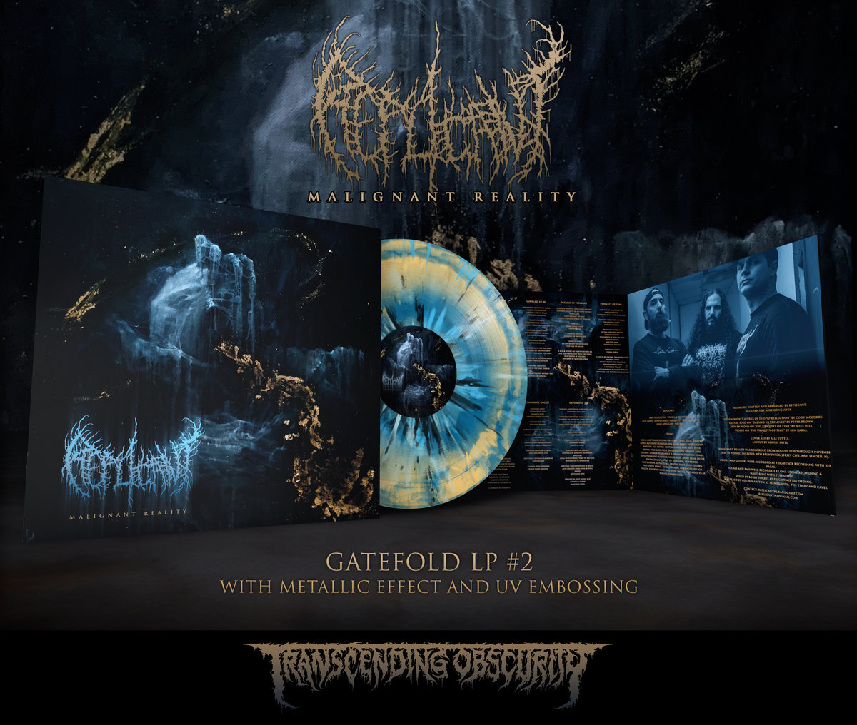 REPLICANT - Malignant Reality Gatefold LP with Metallic Effect and Embossing (Limited to 100 per variant)