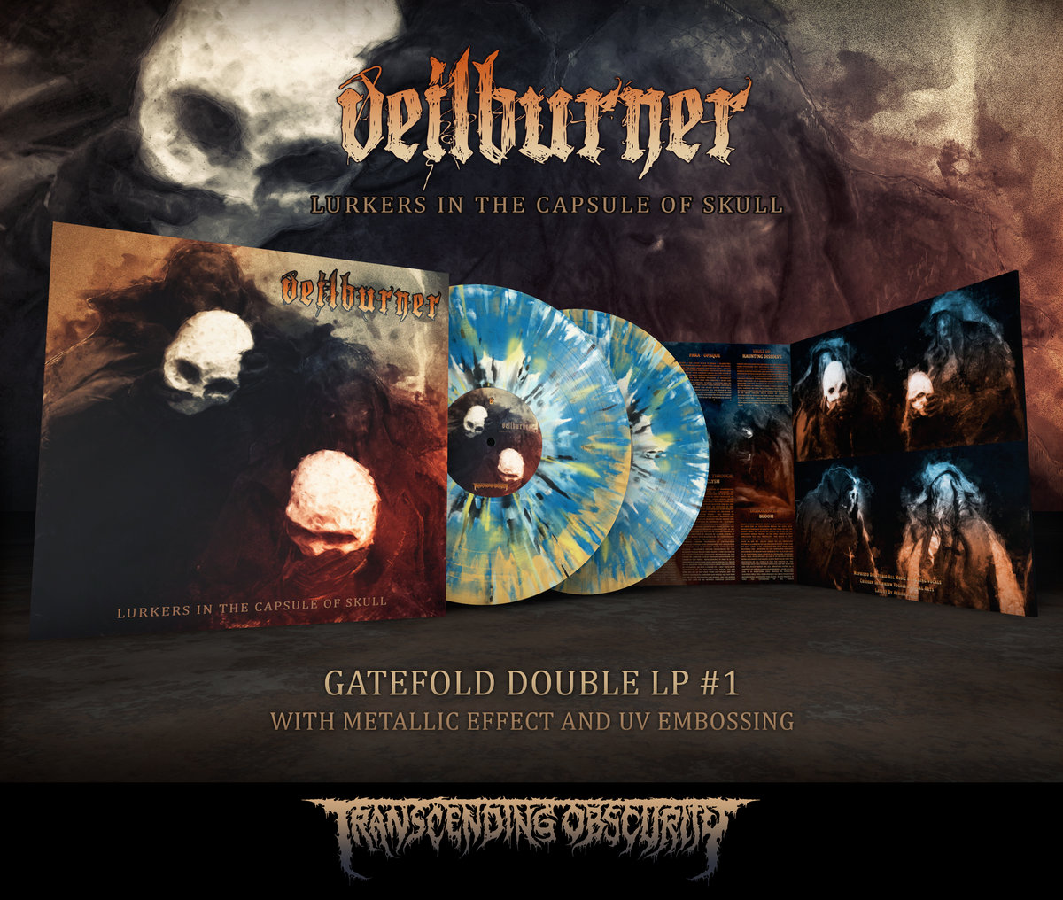 VEILBURNER - Lurkers in the Capsule of Skull Gatefold Double LP with Metallic Effect and Embossing (Limited to 100 per variant)