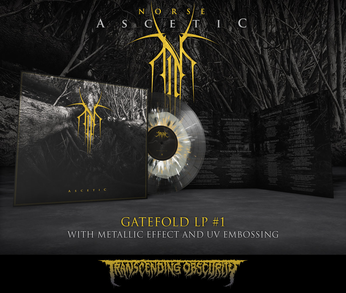 NORSE - Ascetic Gatefold LP with Metallic Effect and Embossing (Limited to 100 per variant)