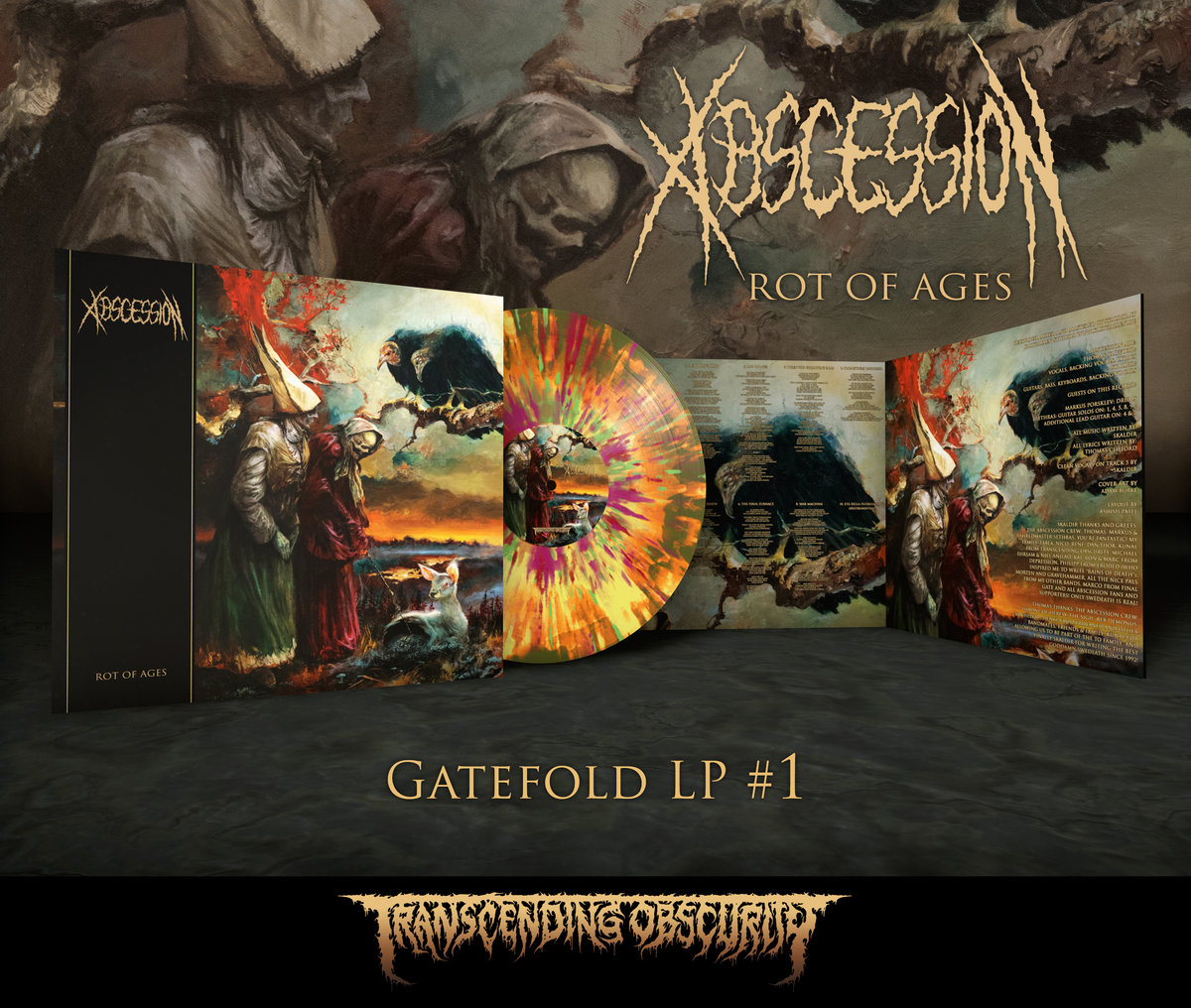 ABSCESSION - Rot of Ages Gatefold LP with Metallic Effect and Embossing (Limited to 100 per variant)