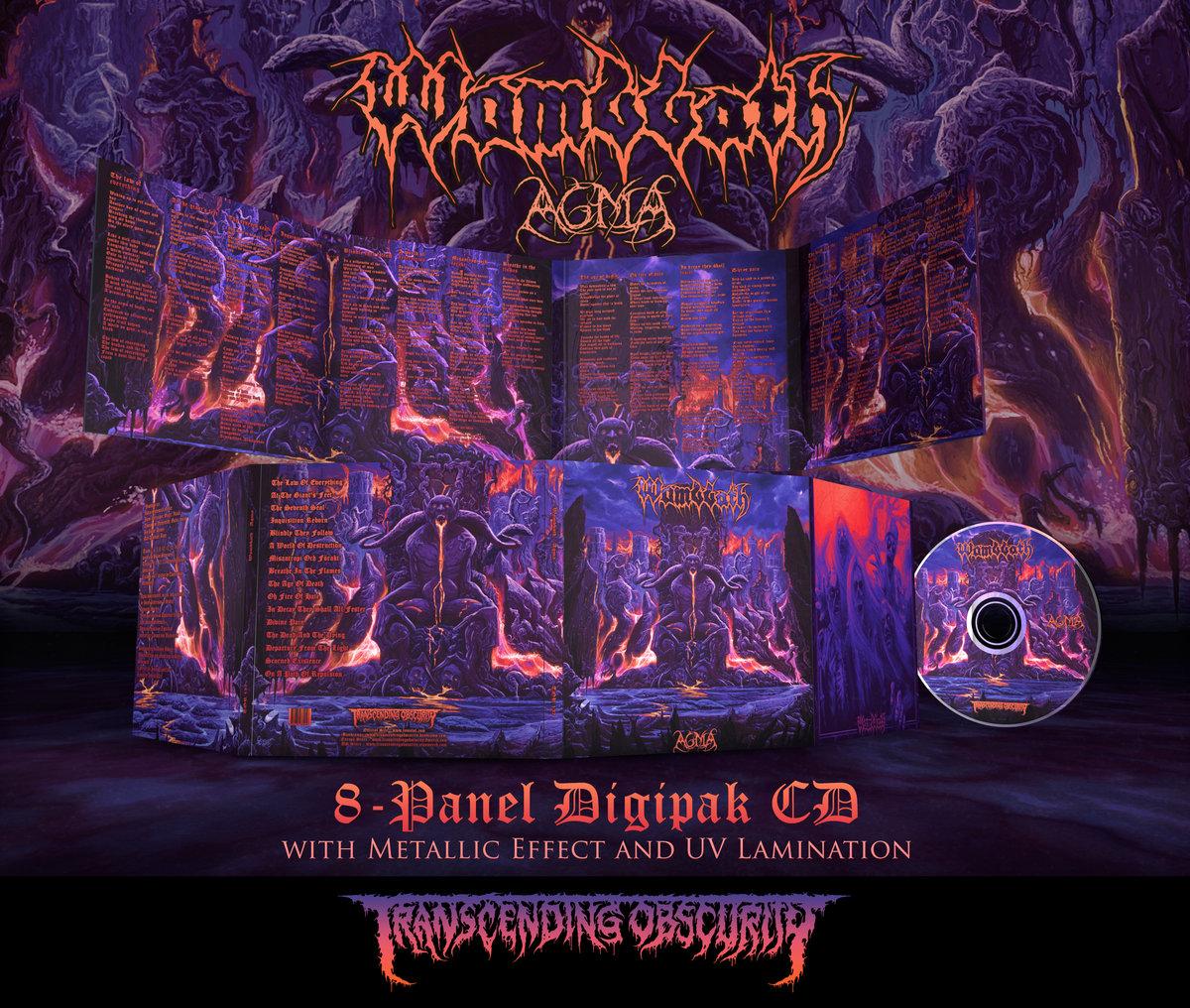 WOMBBATH - Agma 8-Panel Digipak CD with Metallic Effect and Spot UV Lamination