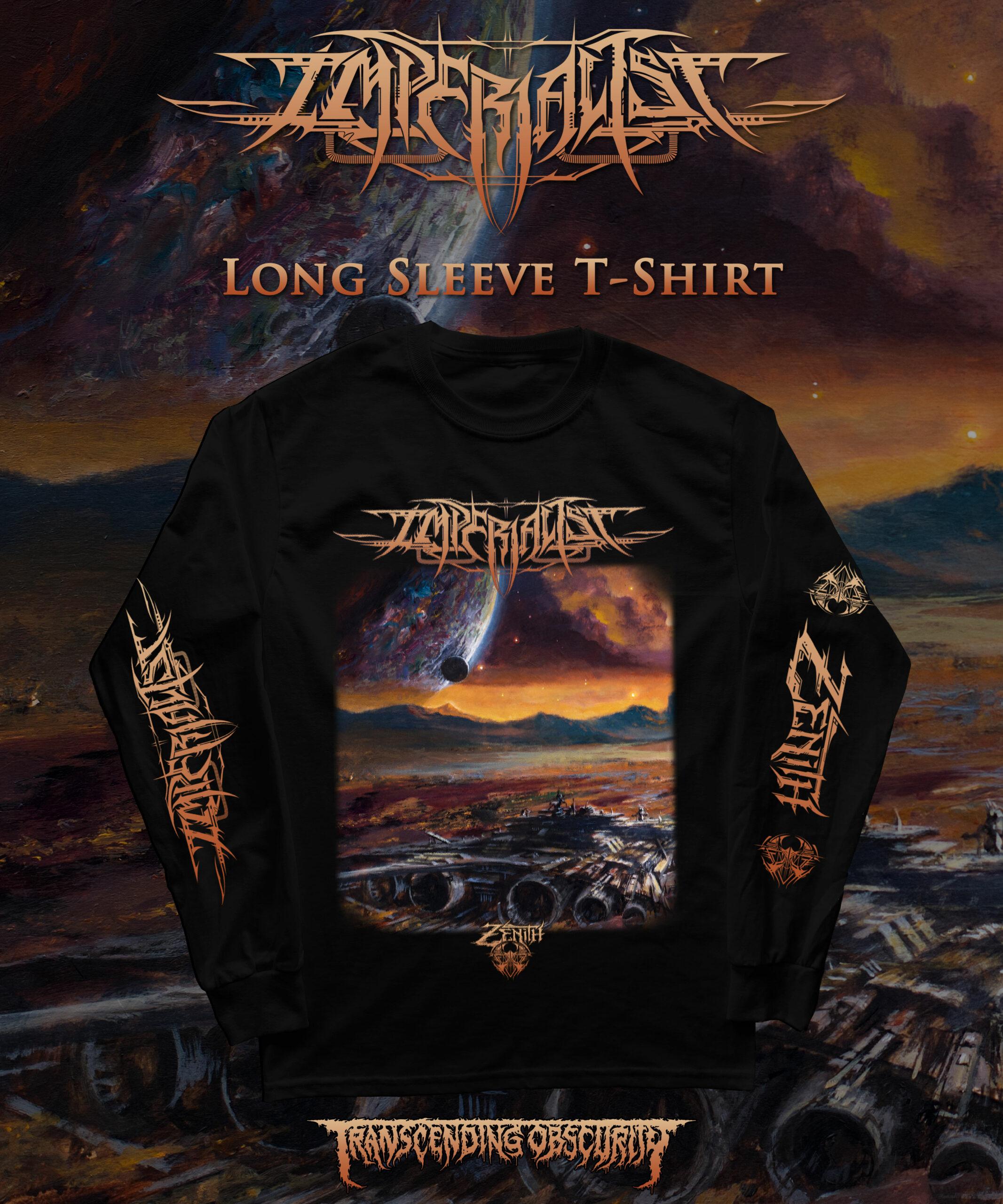 IMPERIALIST - Zenith Album Artwork Long Sleeve T-shirt Variant #2 (Spaceship)
