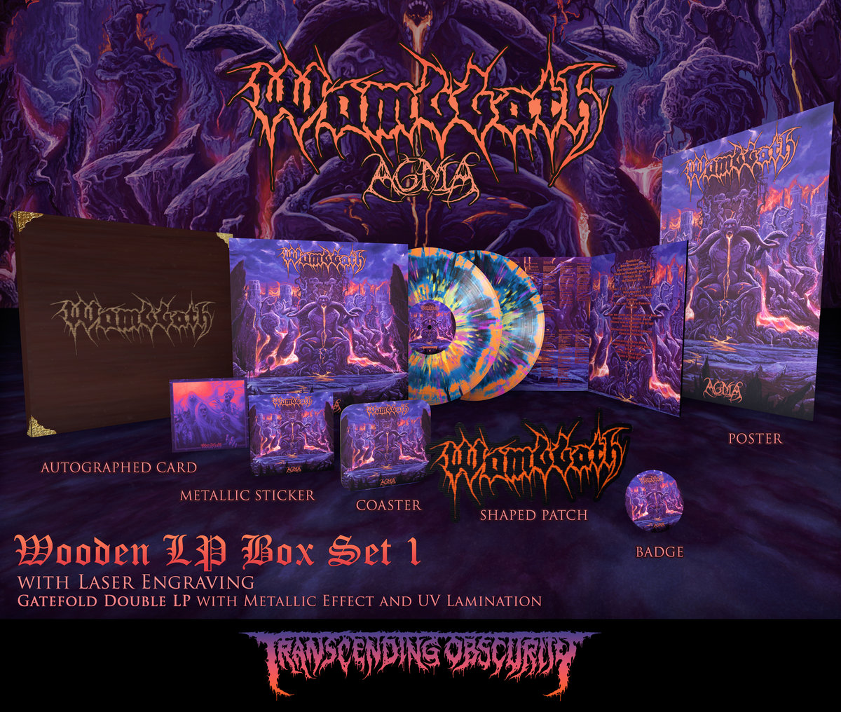 WOMBBATH - Agma Wooden Double LP Box Set with Engraving (Limited to 25 per variant)