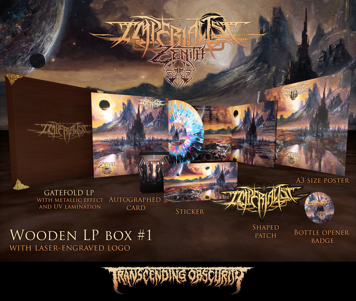 IMPERIALIST - Zenith Wooden LP Box Set with Engraving (Limited and numbered to 25 per variant)