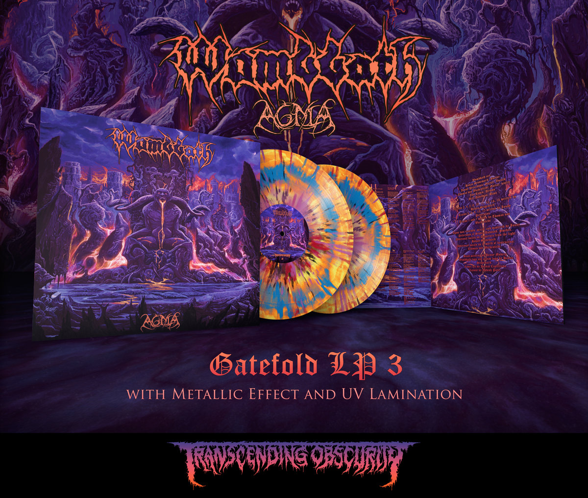 WOMBBATH - Agma Gatefold Double LP with Metallic Effect and UV Lamination (Limited to 75 per variant)