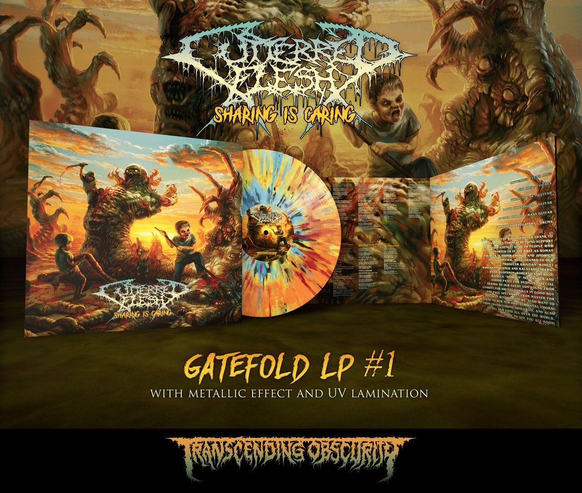 CUTTERED FLESH - Sharing is Caring LP with Metallic Effect and Embossing (Limited to 75 per variant)